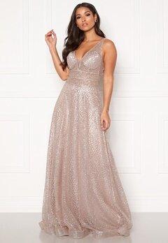 SUSANNA RIVIERI Sparkling Glitter Gown Mauve Bubbleroom.eu
