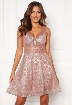SUSANNA RIVIERI Sparkling Short Glitter Gown Mauve Bubbleroom.eu