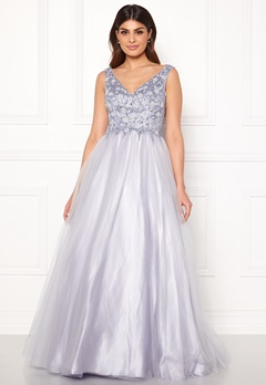 SUSANNA RIVIERI Sparkling Tulle Dress Ice Blue Bubbleroom.eu