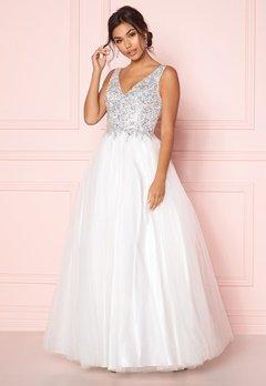 SUSANNA RIVIERI Sparkling Tulle Dress Ivory Bubbleroom.eu