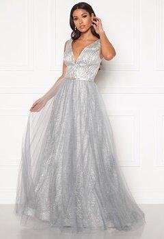 SUSANNA RIVIERI Stardust Gown Silver Bubbleroom.eu