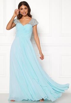 SUSANNA RIVIERI Sweetheart Chiffon Dress Ice Blue Bubbleroom.eu