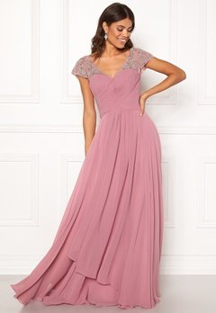 SUSANNA RIVIERI Sweetheart Chiffon Dress Rose Bubbleroom.eu