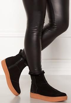 Svea Anna High Suede Shoes 900 Black Bubbleroom.eu