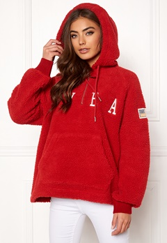 Svea Ophelia Pile Hood Bright Red Bubbleroom.eu