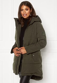 Svea W. Hourglass Puffer Jacket 206 Dark Army Bubbleroom.eu