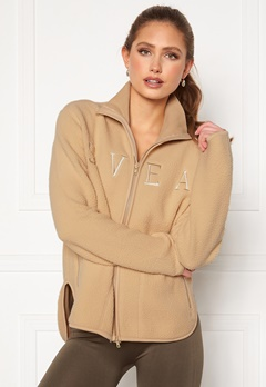 Svea W. Pile Turtle Zip Sweat 006 Sand Bubbleroom.eu