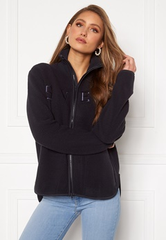 Svea W. Pile Turtle Zip Sweat 600 Navy Bubbleroom.eu