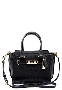 COACH Swegger Leather Bag LIBLK Black Bubbleroom.eu