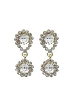 SNÖ of Sweden Swire Small Earrings Gold/Clear Bubbleroom.eu