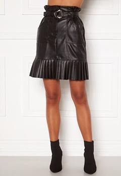 VILA Talina Coated Skirt Black Bubbleroom.eu