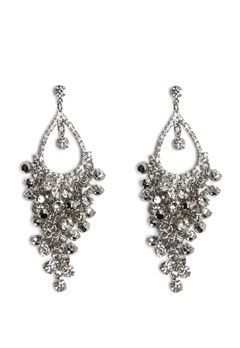 Love Rocks Tear Shape Earrings Silver Bubbleroom.eu