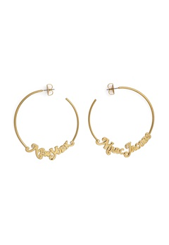 The Marc Jacobs The Logo Hoops Small 710 Gold Bubbleroom.eu