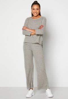 VERO MODA Tilda HW Pant Light Grey Melange Bubbleroom.eu