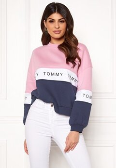 TOMMY JEANS Colorblock Sweatshirt 901 Black Iris/Multi Bubbleroom.eu