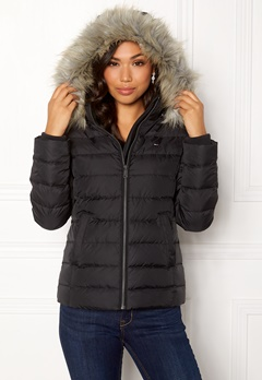 TOMMY JEANS Essential Down Jacket 078 Tommy Black Bubbleroom.eu