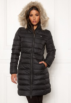 TOMMY JEANS Essential Hooded Down Coat BBU Black Bubbleroom.eu