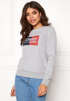 TOMMY JEANS Essential Logo Sweatshirt 038 Lt Grey Bubbleroom.eu