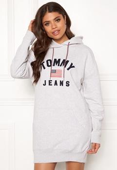 TOMMY JEANS Logo Hoodie Dress PPP Pale Grey HTR Bubbleroom.eu