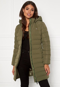 TOMMY JEANS Quilted Down Coat MSQ Olive Tree Bubbleroom.eu