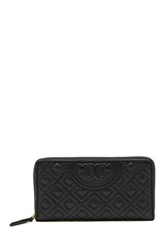 TORY BURCH Fleming Zip Wallet Black Bubbleroom.eu