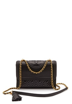 TORY BURCH Flemming Quilted Leather 001 Black Bubbleroom.eu