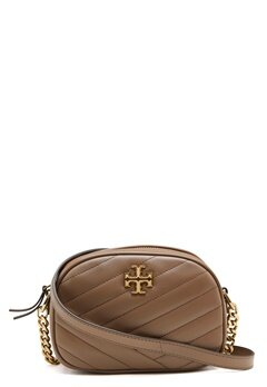 TORY BURCH Kira Chevron Camera Bag Classic Taupe Bubbleroom.eu