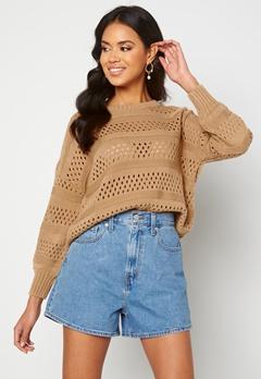 Trendyol Knitted Sweater Camel Bubbleroom.eu