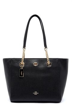COACH Turn Lock Leather Bag LIBLK Black Bubbleroom.eu