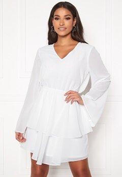 Rut & Circle Tuva Frill Dress White Bubbleroom.eu