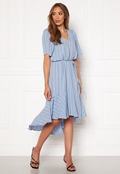 Twist & Tango Alexa Dress Dusty Blue Logo Bubbleroom.eu
