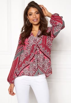 Twist & Tango Callie Blouse Pink Graphic Bubbleroom.eu