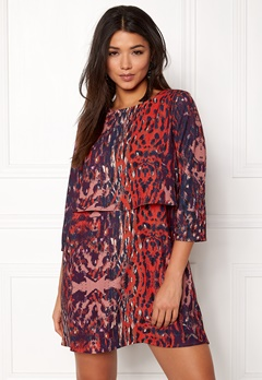 Twist & Tango Sasha Dress Wine Leopard Bubbleroom.eu