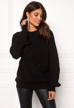 Twist & Tango Sonja Frill Sweater Black Bubbleroom.eu