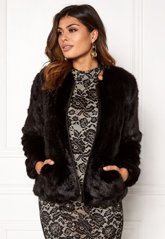 Twist & Tango Viola Faux Fur Jacket Black  Bubbleroom.eu