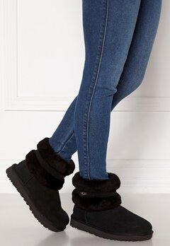UGG Fluff Mini Belted Boots Black Bubbleroom.eu