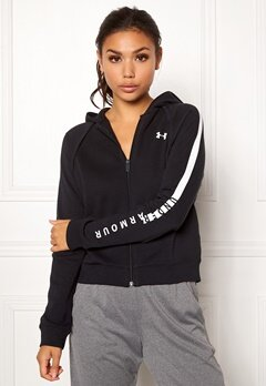 Under Armour Rival Fleece FZ Hoodie Black Bubbleroom.eu