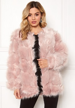 Urban Mist Diamond Panelled Fur Dusty Pink Bubbleroom.eu