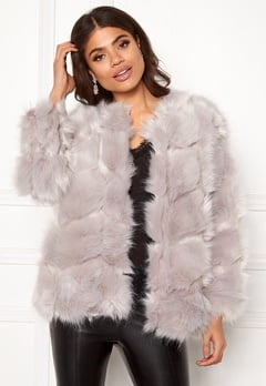 Urban Mist Diamond Panelled Fur Light Grey Bubbleroom.eu