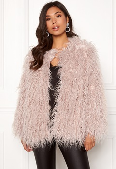 Urban Mist Mongolian Faux Fur Coat Light Pink Bubbleroom.eu