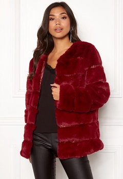 Urban Mist Plush Panelled Faux Fur Wine Bubbleroom.eu