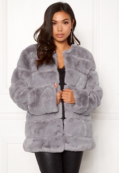 Urban Mist Plush Panelled Faux Fur Grey Bubbleroom.eu