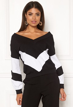 Ivyrevel V Neck Sweater Black/White Bubbleroom.eu