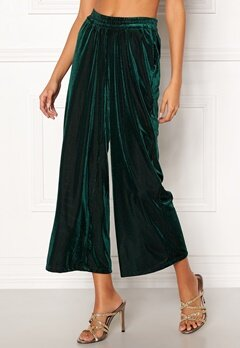 co'couture Velvet Groove Cropped Pant 34 Green Bubbleroom.eu