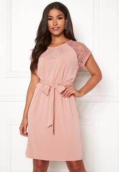 VERO MODA Alberta S/S Lace Dress Misty Rose Bubbleroom.eu