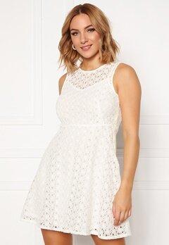 VERO MODA Allie Lace S/L Short Dress Snow White Bubbleroom.eu