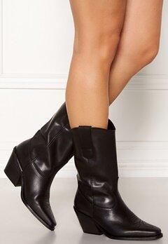 VERO MODA Asa Leather Boot Black Bubbleroom.eu