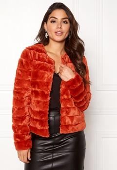 VERO MODA Avenue Faux Fur Short Ketchup Bubbleroom.eu