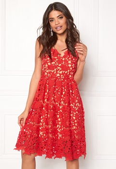 VERO MODA Beauti s/l Lace Dress Hibiscus Bubbleroom.eu