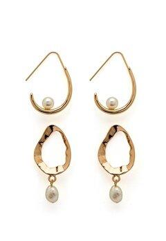 VERO MODA Blia Earrings 2-pack Gold Colour Bubbleroom.eu